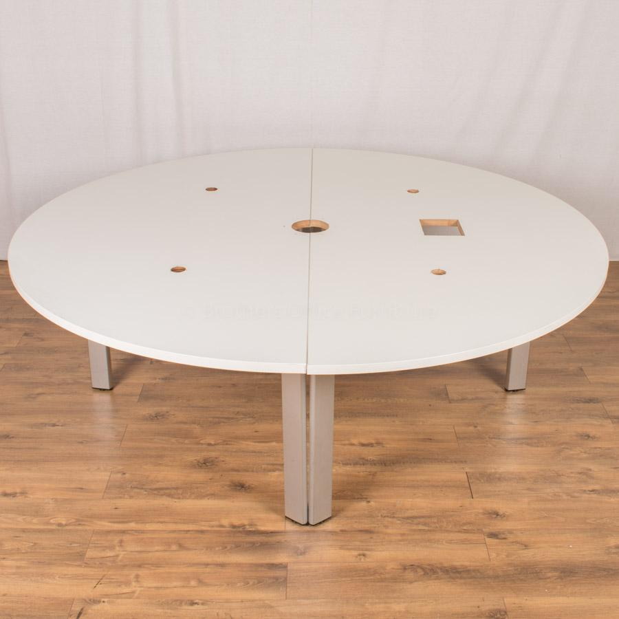 Brunner White 2250D Round Office Table