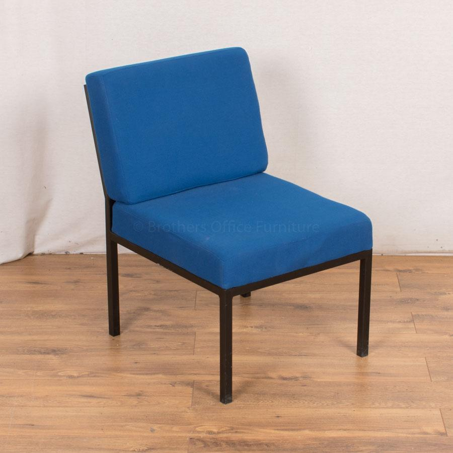 Blue 4 Legged Modular Reception Chair