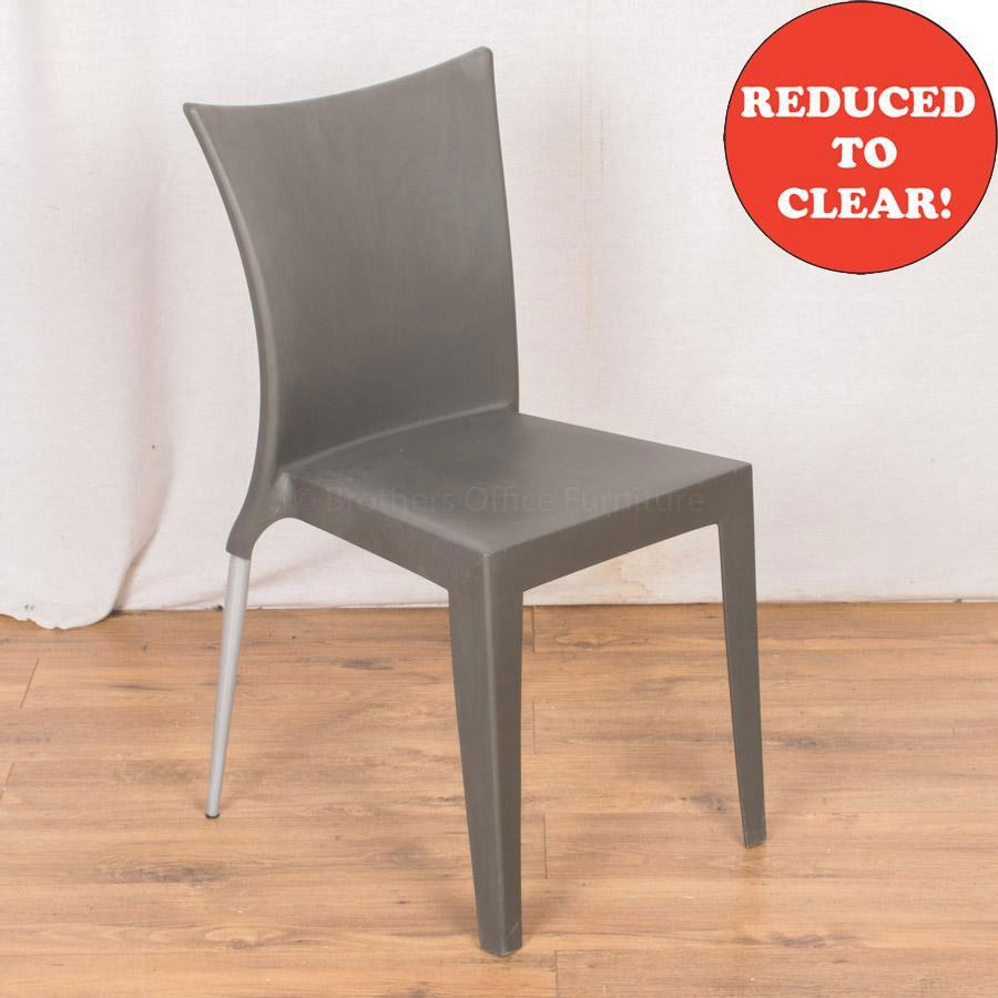 ArrMet Grey Plastic Stacking Chair