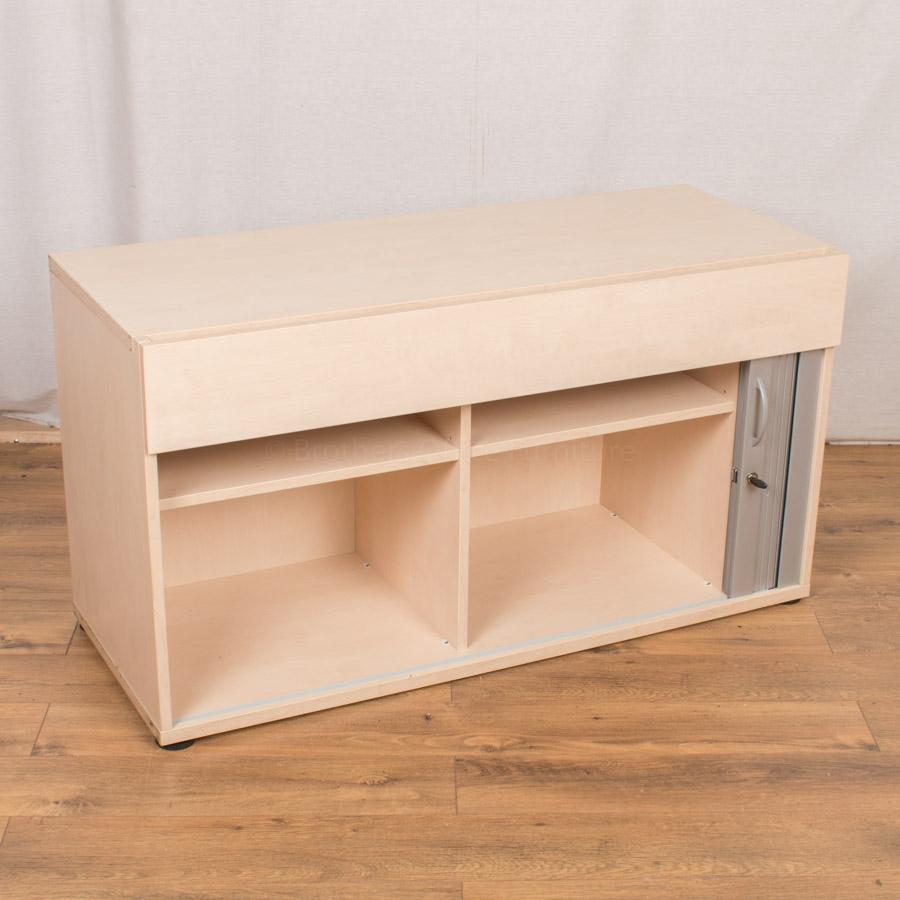 Maple 640H Tambour/Drawer Cupboard