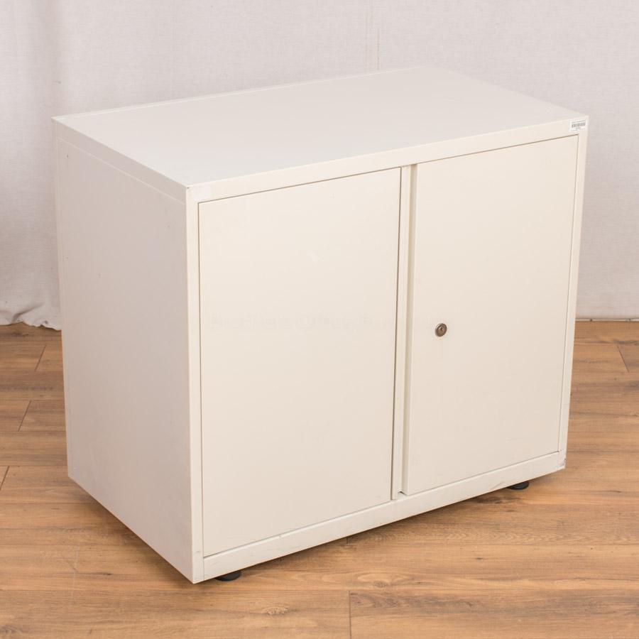 White Steel 700H Storage Cupboard