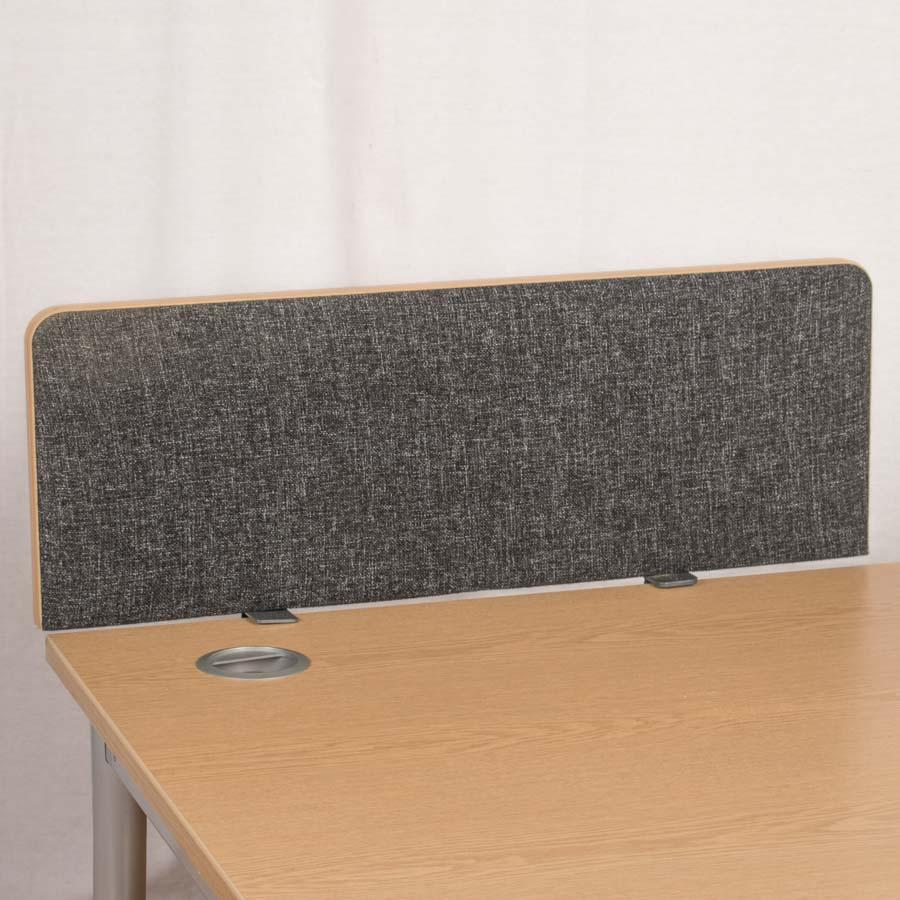 Dams Charcoal 800 Straight Desk Divider