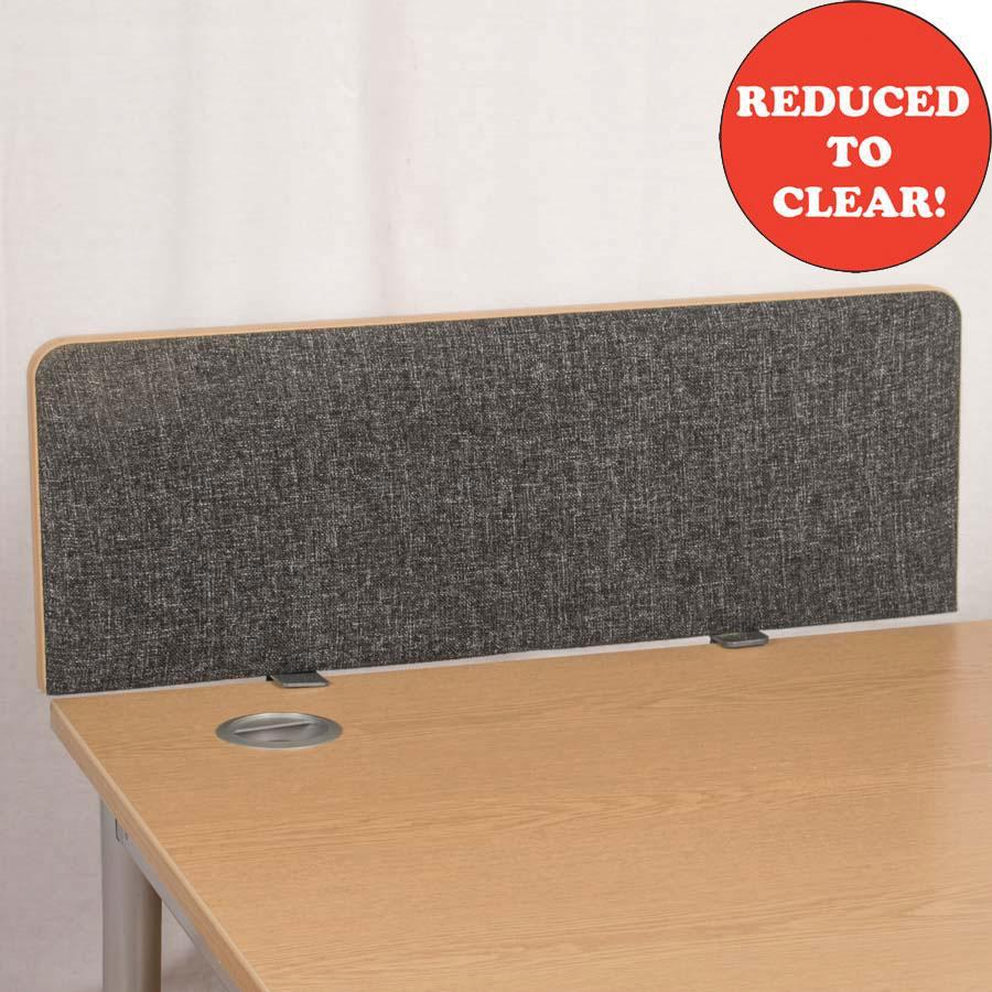 Dams Charcoal 800 Straight Desk Divider