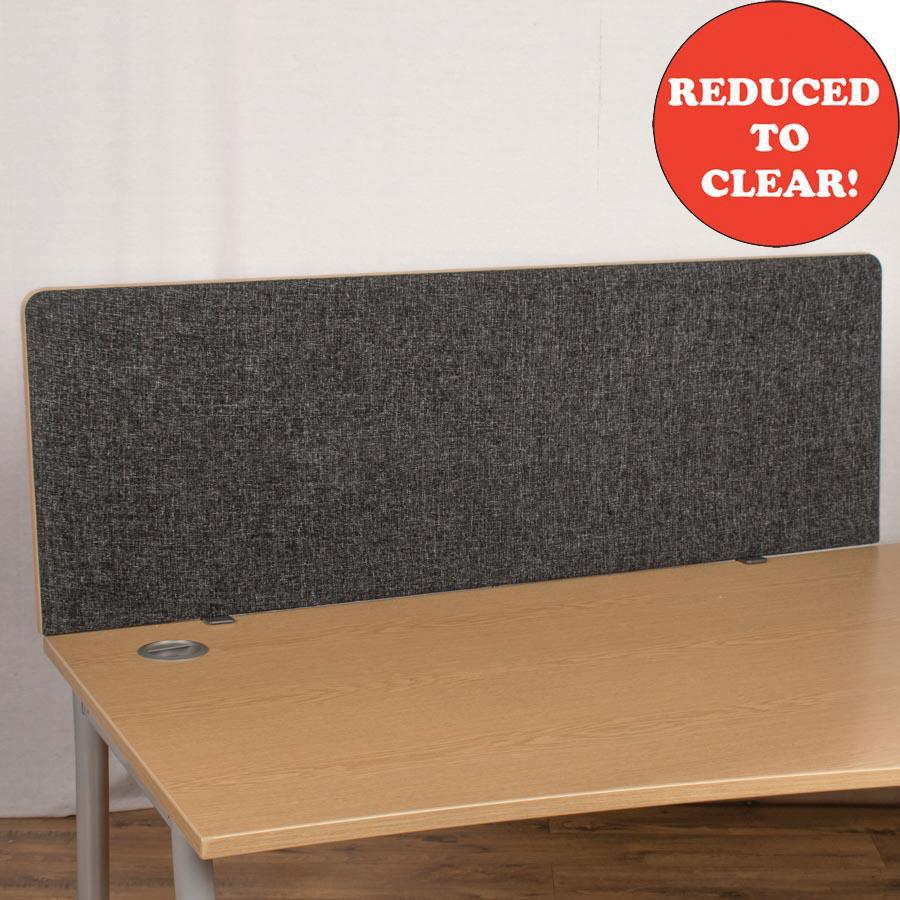 Dams Charcoal 1400 Straight Desk Divider