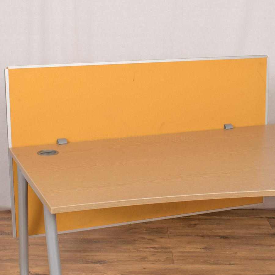 Steelcase Burnt Yellow 1400 Desk Divider