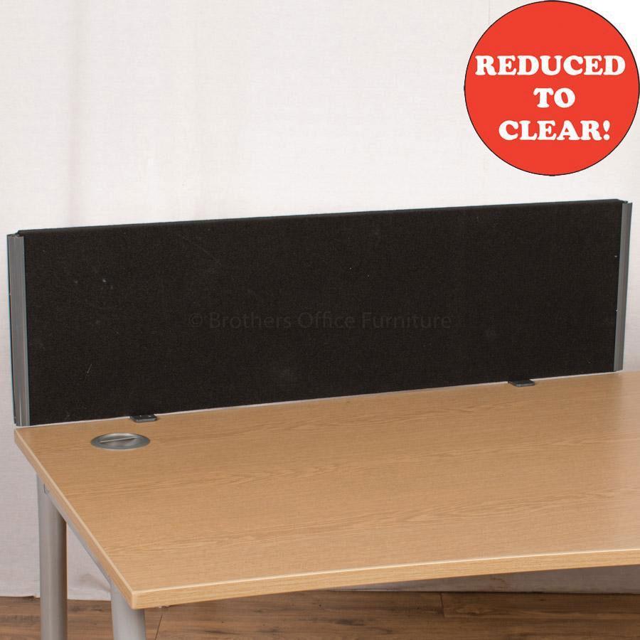 Black 1170 Desk Divider (UDS6)
