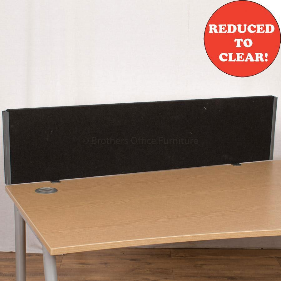 Black 1370 Desk Divider (UDS7)