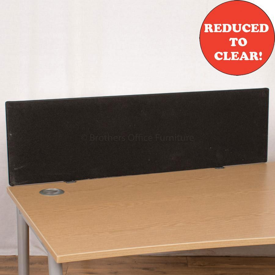 Black 1170 Desk Divider (UDS5)