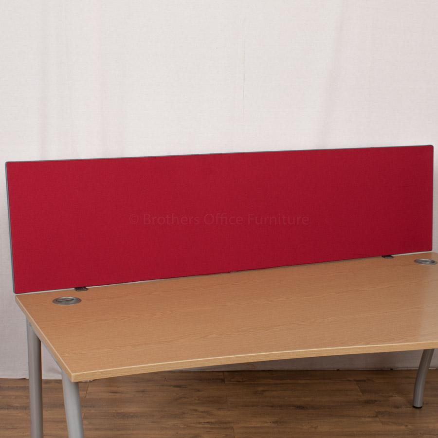 Red 1800 Desk Divider