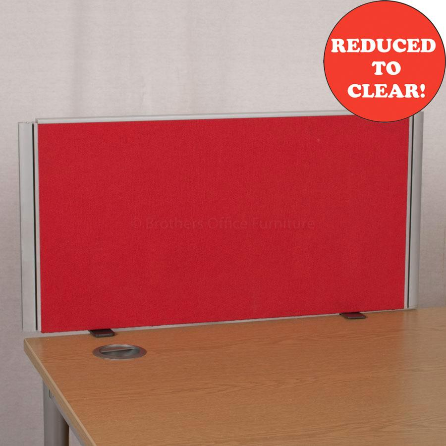 Red 800 Desk Divider (UDS12)