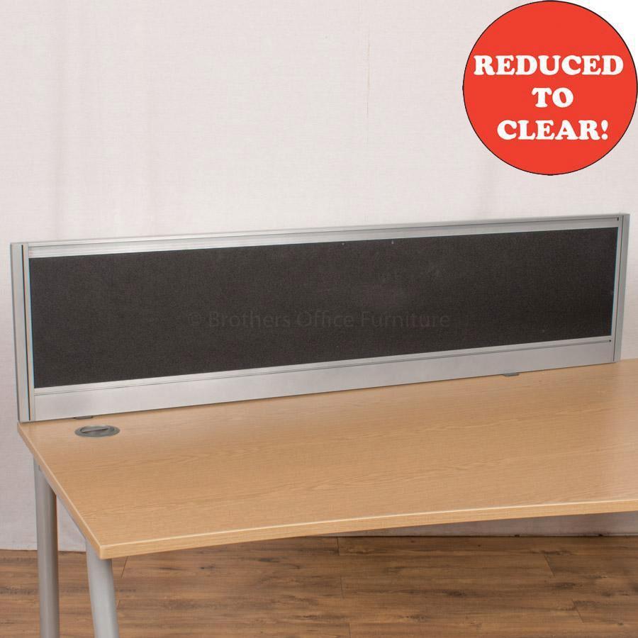 Black 1600 Desk Divider (UDS26)