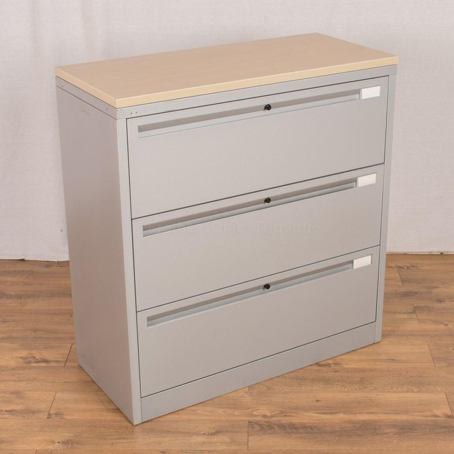 Samas S4 Silver Steel 4 Drawer Lateral Filer