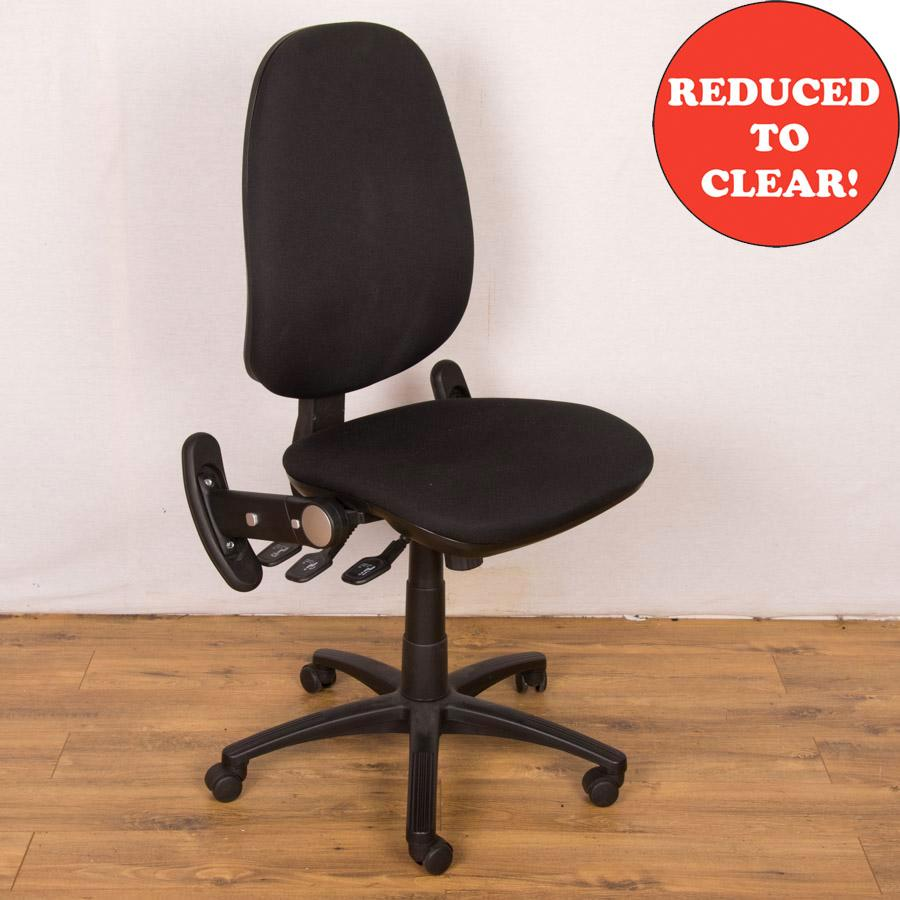 Black Fully Adjustable Operators Chair - No Arms