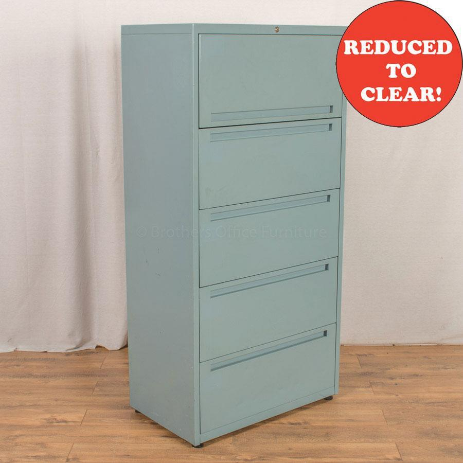 Green 4 Drawer Filer with Storage Box | 800W