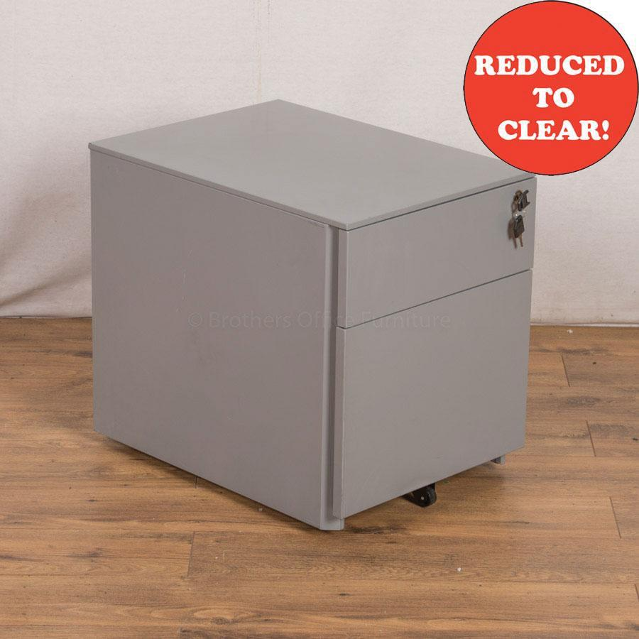 Light Grey Steel 2 Drawer Pedestal (PED32)