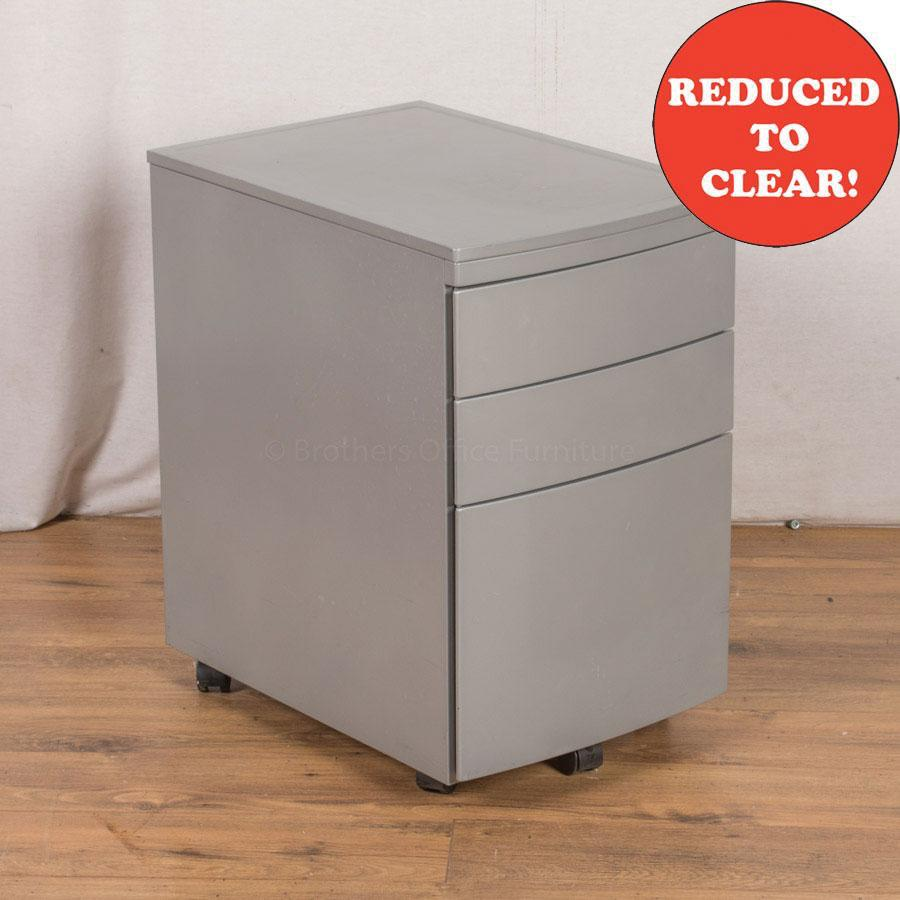 Light Grey Steel 3 Drawer Pedestal (PED31)
