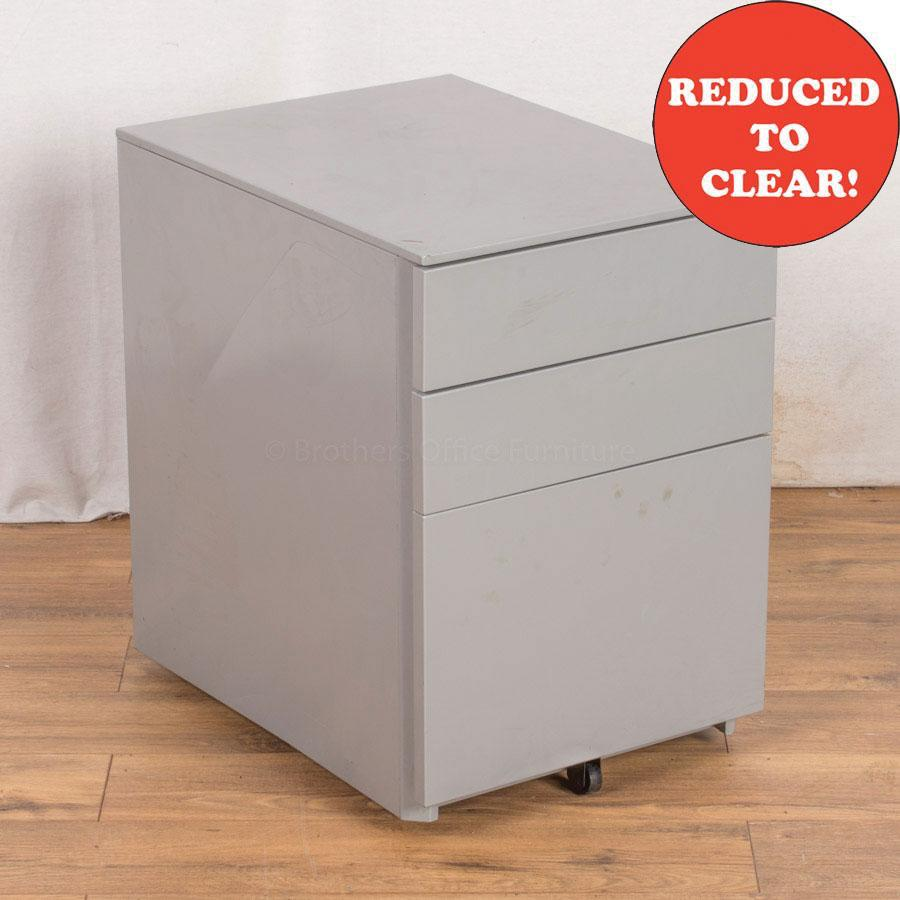 Light Grey Steel 3 Drawer Pedestal (PED33)