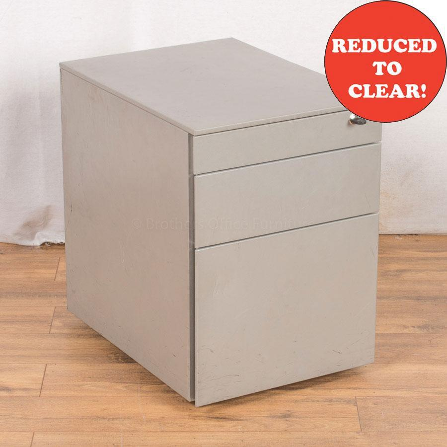 Light Grey Steel 3 Drawer Pedestal (PED26)