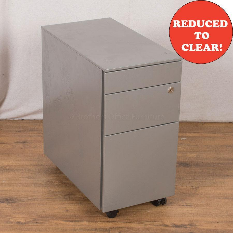 Ahrend Light Grey Steel 3 Drawer Pedestal (PED36)
