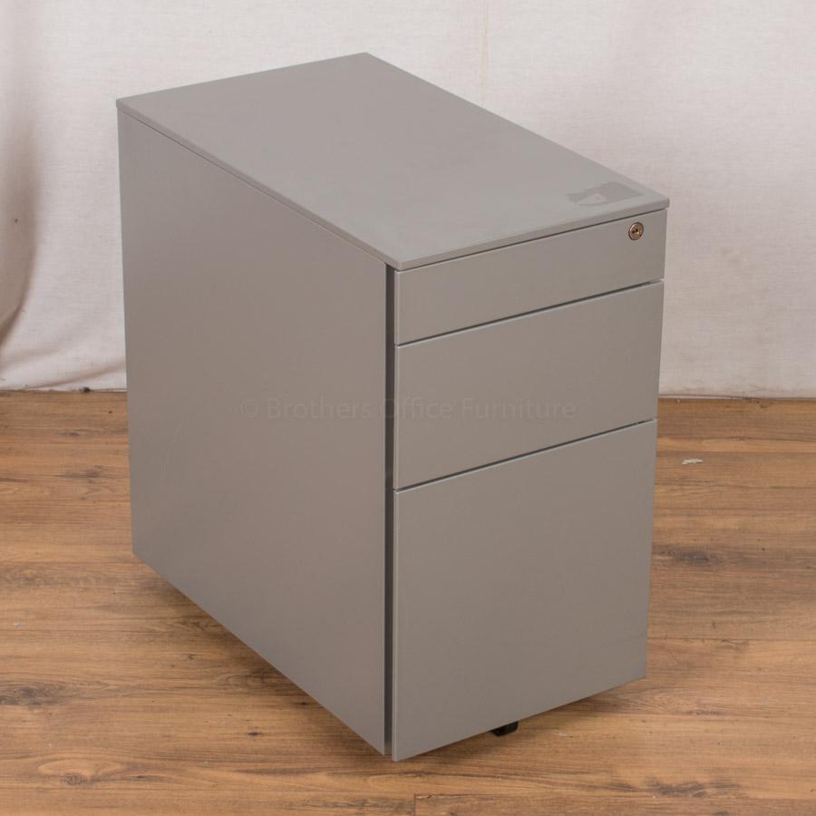 Ahrend Light Grey Steel 3 Drawer Pedestal (PED37)