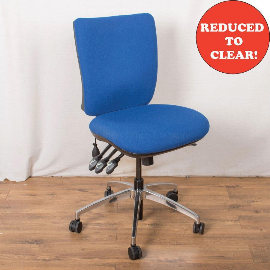 4 Lever Office Chair | Blue (OP179)