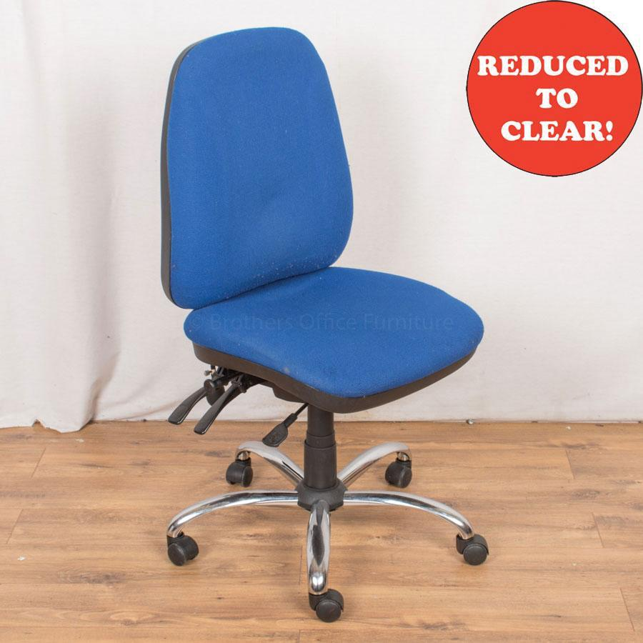 4 Lever Office Chair | Blue (OP181)