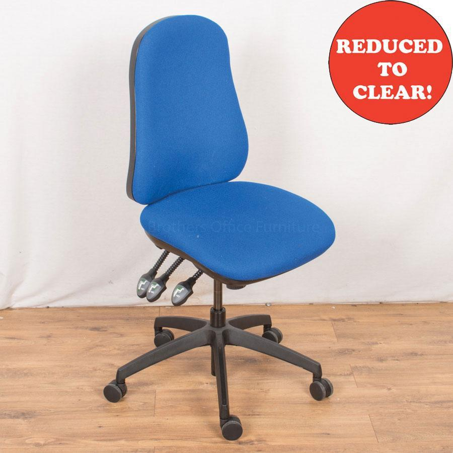 4 Lever Office Chair | Blue (OP182)