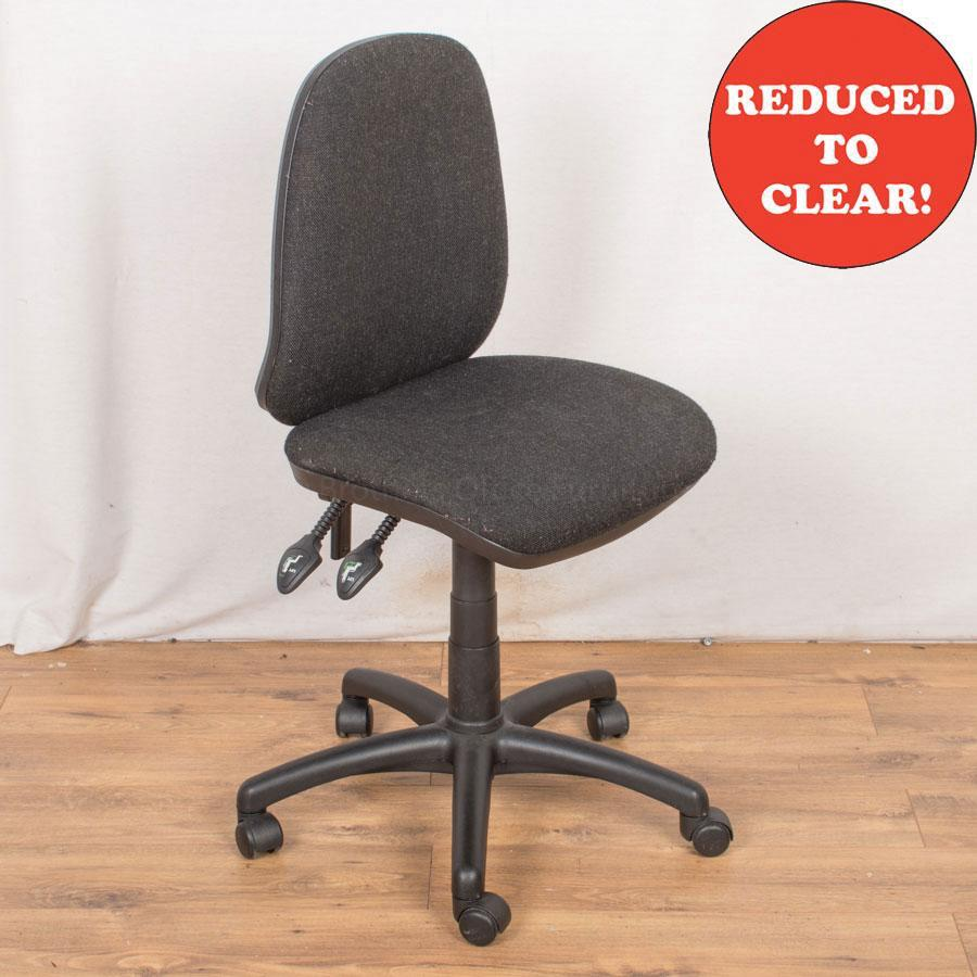 2 Lever Office Chair | Charcoal (OP186)