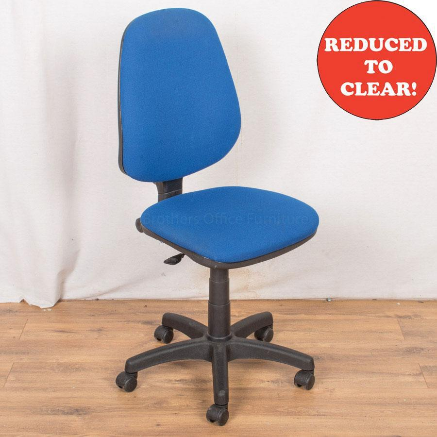 1 Lever Office Chair | Blue (OP190)