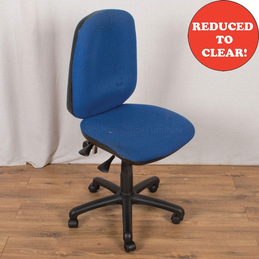 3 Lever Office Chair | Blue (OP196)