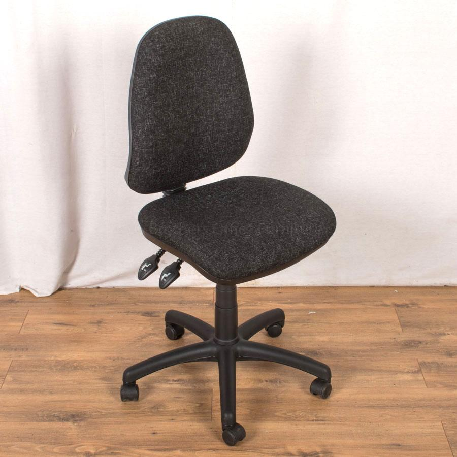 2 Lever Office Chair | Charcoal (OP198)