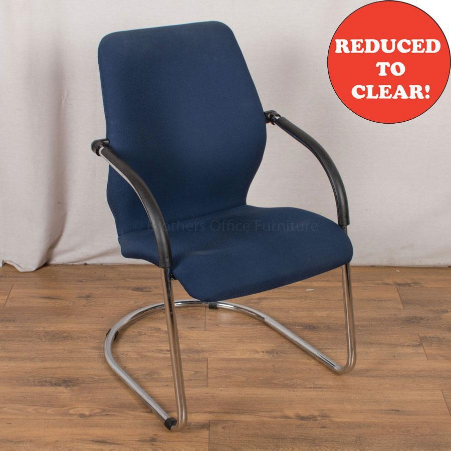 Blue Cantilever Meeting Chair (MC181)