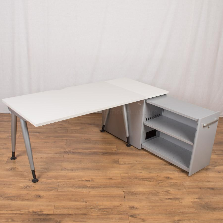 Steelcase TNT White 1820x800 Straight Workstation
