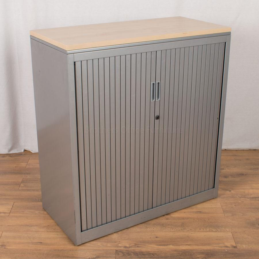 Silver/Maple 1085H Tambour Cupboard (TC128)