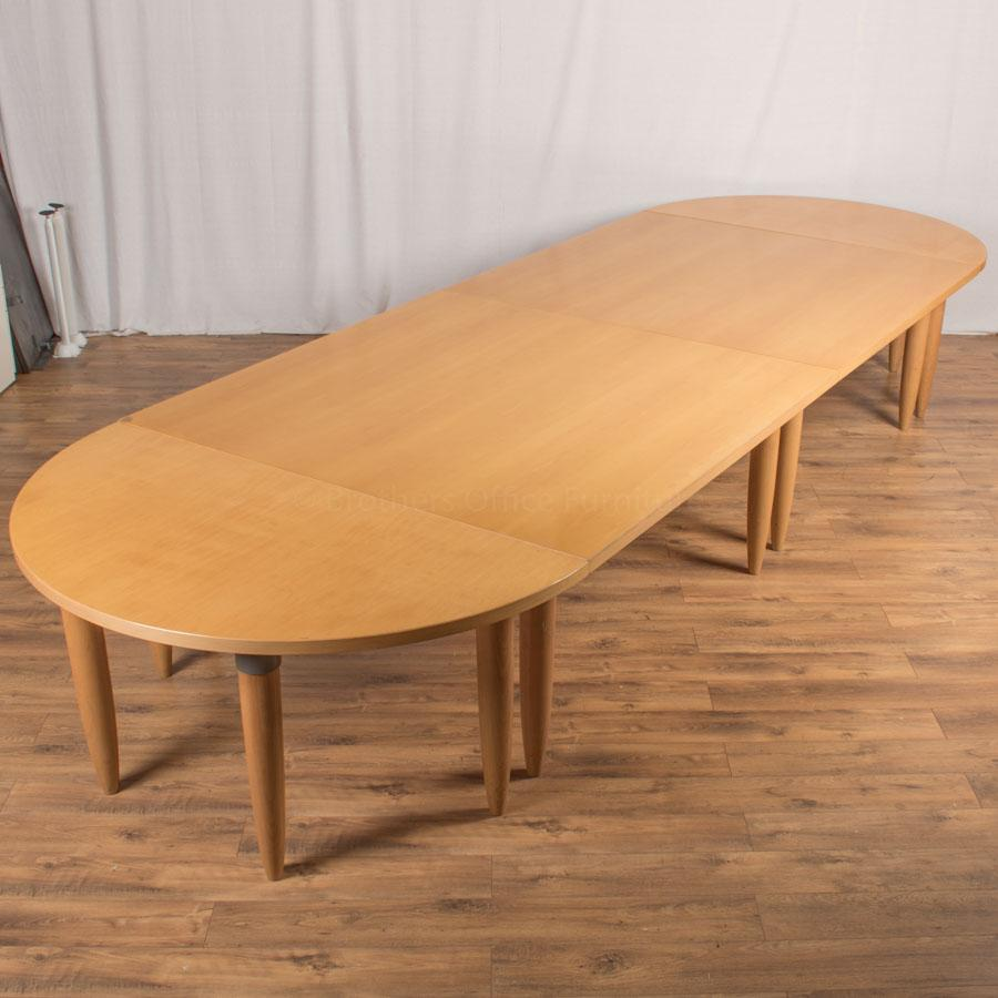 Maple Veneer 6400x1600 Boardroom Table (BT108)