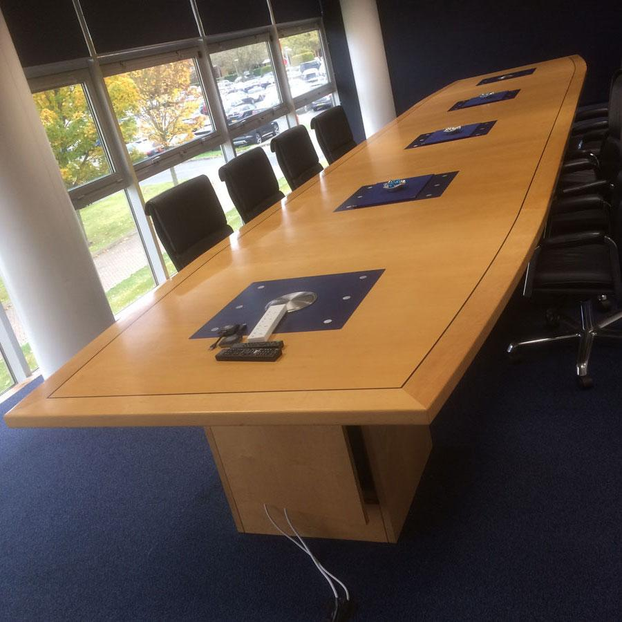 Williams F1 Maple Veneer Large Boardroom Table