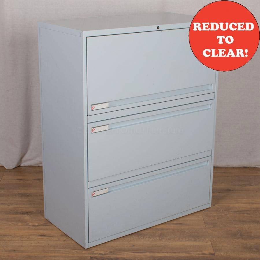 KI Sky Blue Combination Filing Cabinet