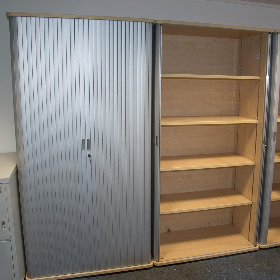 Kentec Maple 2050H Tambour Cupboard