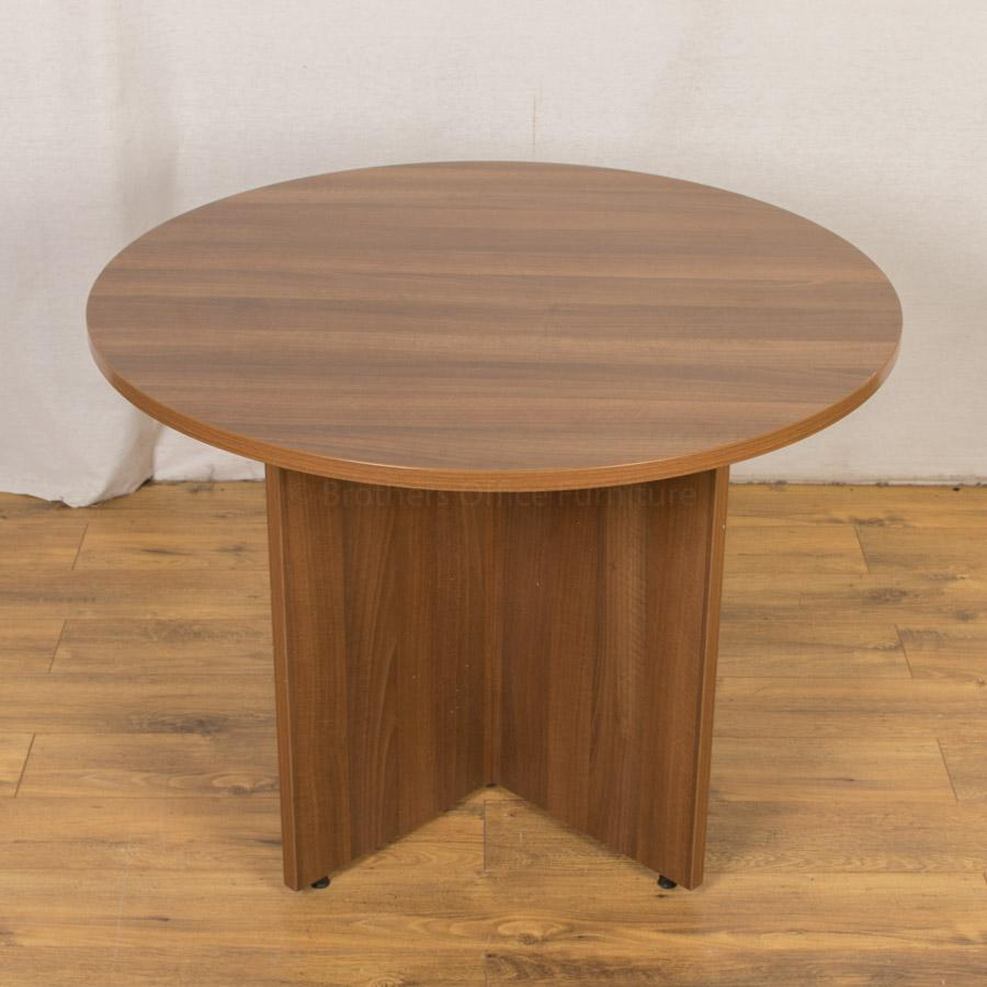 Walnut 1000D Round Office Table (RT80)