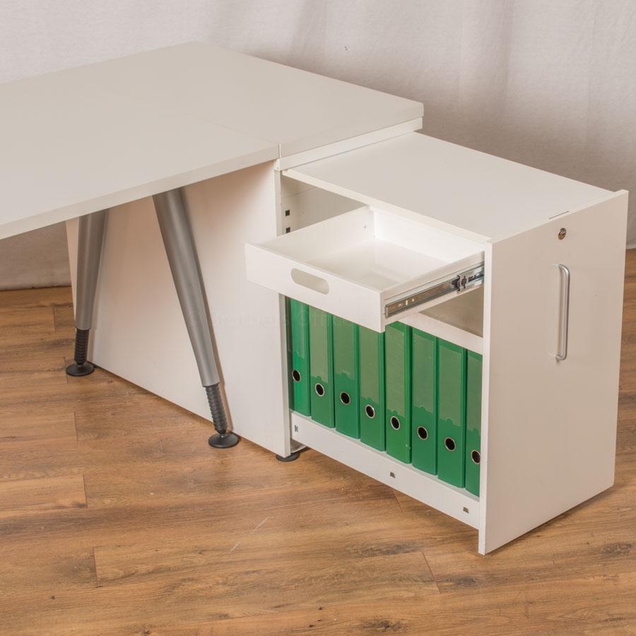 Steelcase TNT White 1815x800 Straight Workstation
