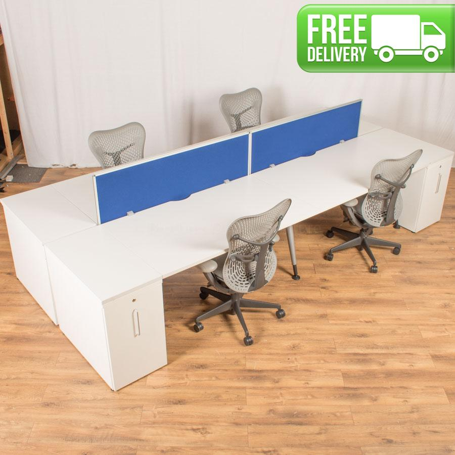 Steelcase TNT White 1815x800 Straight Workstation