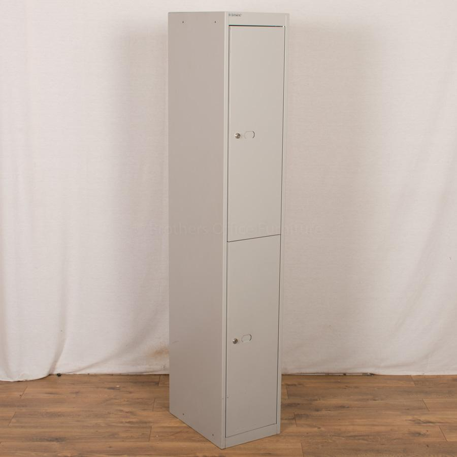 Bisley Light Grey 2 Tier Locker