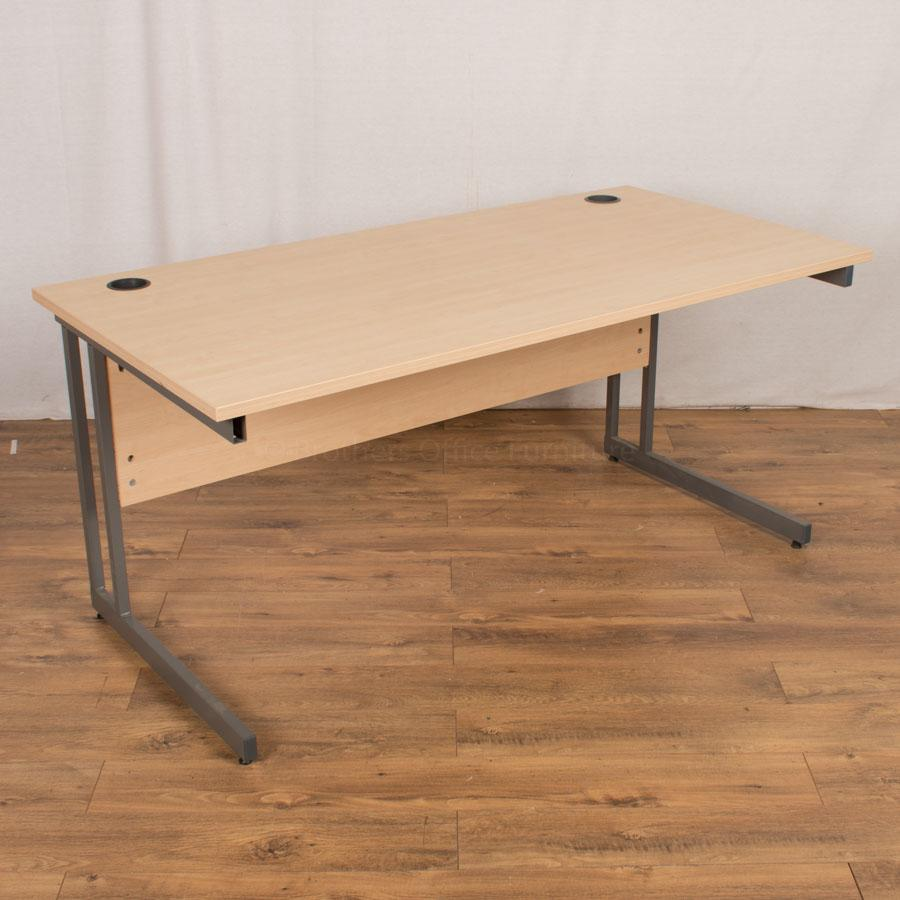 Senator Maple 1600x800 Straight Desk