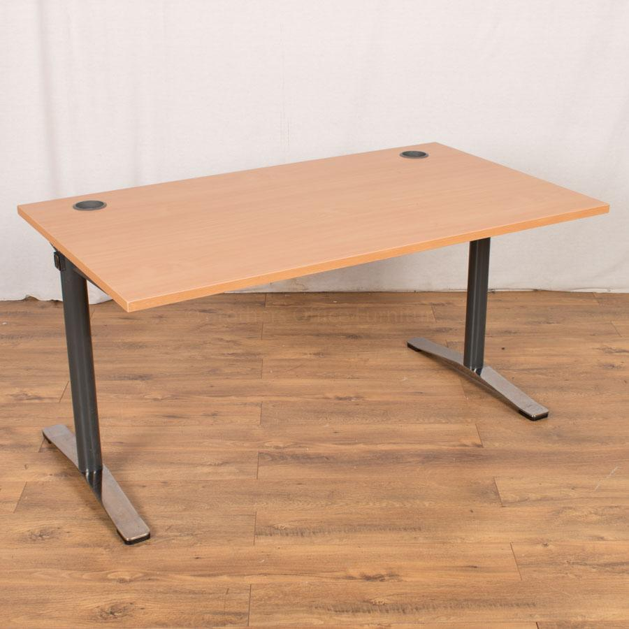 MioDino Beech 1400x800 Straight Desk