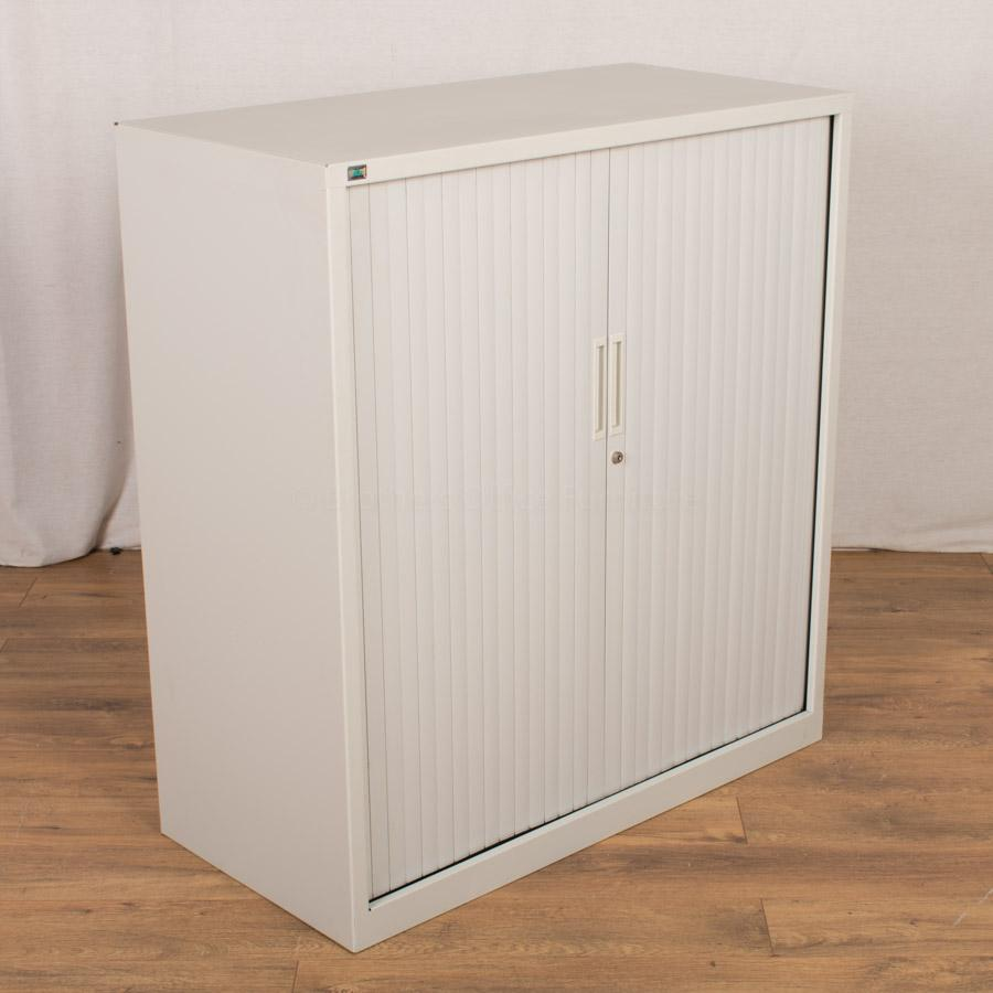Initiative Light Grey 1080H Tambour Cupboard