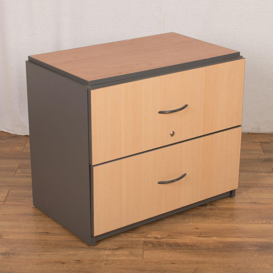 Beech 2 Drawer Lateral Filing Cabinet