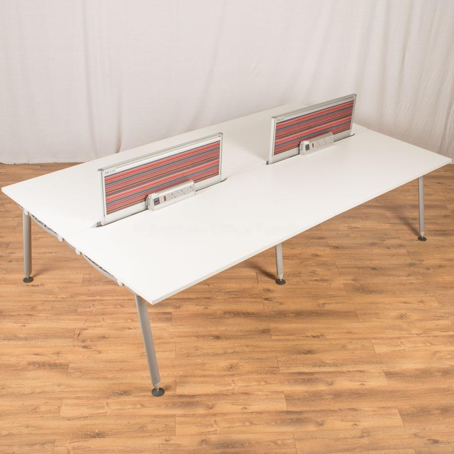 Herman Miller Abak White Bench Desks