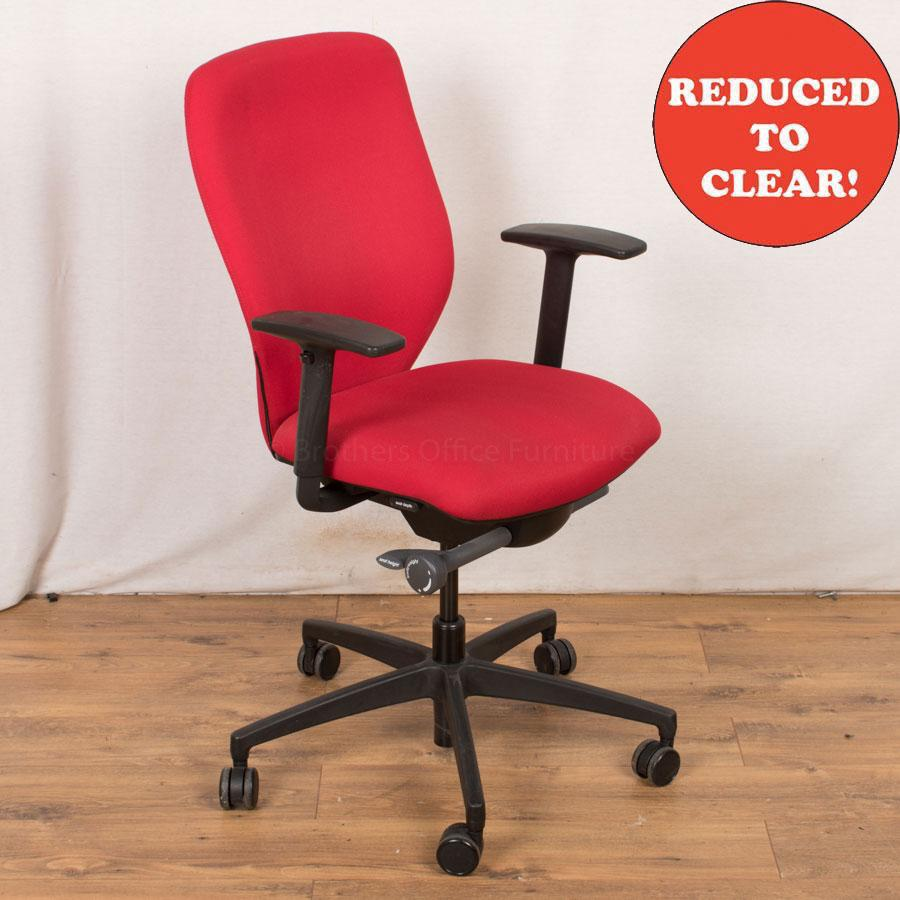 Boss Lily Red Operators Chair (OP216)