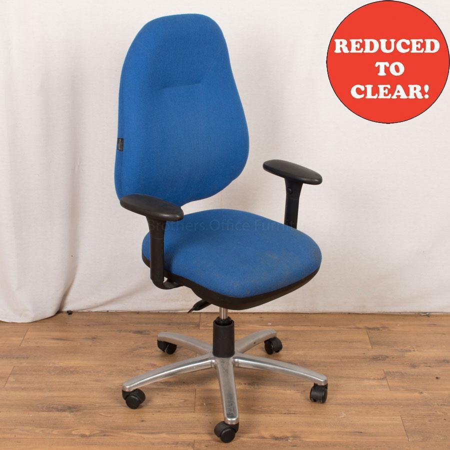 Therapod Status Blue Operators Chair (OP218)