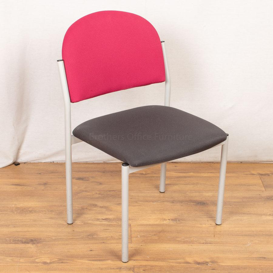 Senator Torasen Grey/Pink Stacking Chair